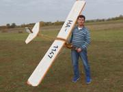 "Tücsök 3000 ""Grig""  1:4 scale RTF Glider with pilot"