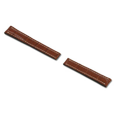 Cognac RIOS1931 Aero, Genuine Alligator Watch Band for Breitling Deploy Clasp | RIOS1931.com