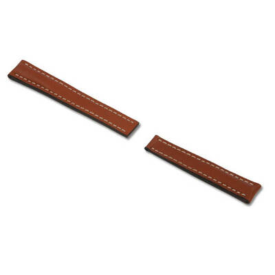 Cognac RIOS1931 Pilot, Genuine Russian Leather Watch Band for Breitling Deploy Clasp | RIOS1931.com