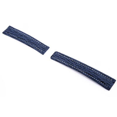Ocean Blue RIOS1931 Continental, Genuine Shark Watch Band for Breitling Deploy Clasp | RIOS1931.com