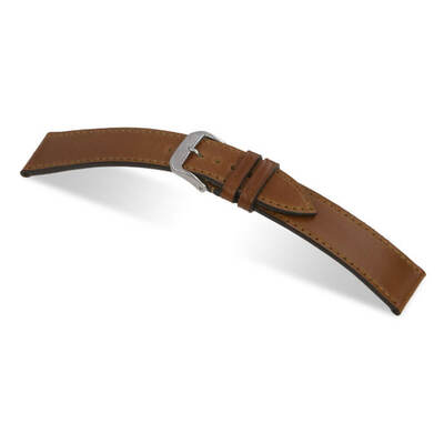 Cognac RIOS1931 Springfield | Genuine Shell Cordovan Watch Band for Nomos | RIOS1931.com