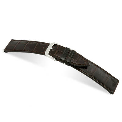 Mocha RIOS1931 Premier | Genuine Alligator Watch Band | RIOS1931.com