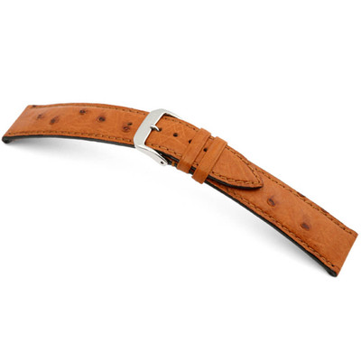 Cognac RIOS1931 Maison | Genuine Ostrich Watch Band | RIOS1931.com