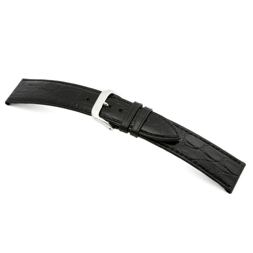 Black RIOS1931 Brazil | Embossed Leather Watch Band | Crocodile Print | RIOS1931.com