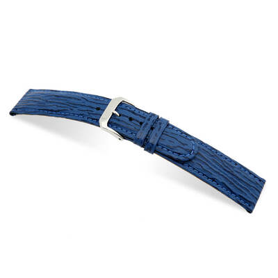 Royal Blue RIOS1931 Ocean | Embossed Leather, Shark Print Watch Band | RIOS1931.com