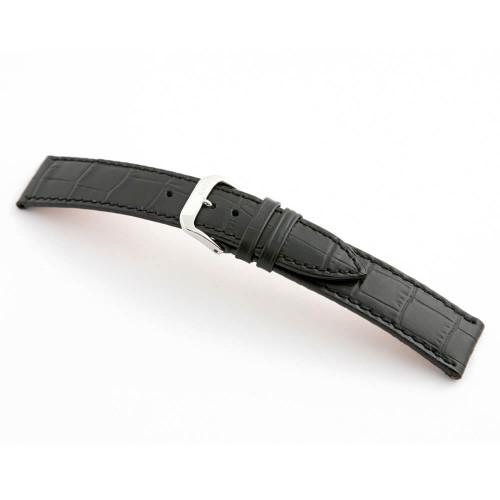 Black RIOS1931 Orlando   Embossed Leather, Alligator Print Watch Band   RIOS1931.com