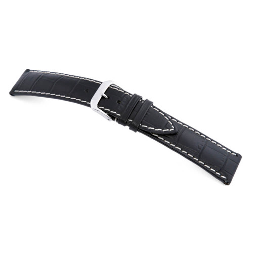 Black RIOS1931 New Orleans | Embossed Leather | Alligator Print Watch Band | RIOS1931.com