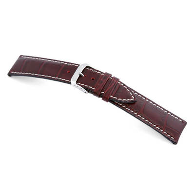 Burgundy RIOS1931 New Orleans | Embossed Leather | Alligator Print Watch Band | RIOS1931.com