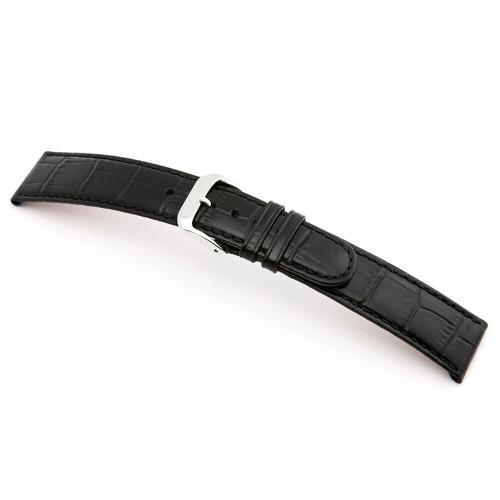 Black RIOS1931 Argentina   Embossed Leather, Alligator Print Watch Band   RIOS1931.com