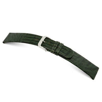 Forest Green RIOS1931 Bolivia | Embossed Leather, Lizard Print Watch Band | RIOS1931.com