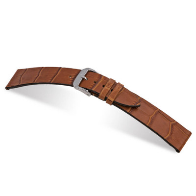 Cognac RIOS1931 Miami | Embossed Leather | Alligator Print Watch Band | RIOS1931.com