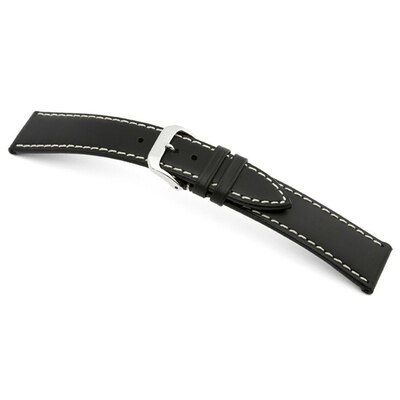 Black RIOS1931 Pensa | Russian Leather Watch Band | RIOS1931.com
