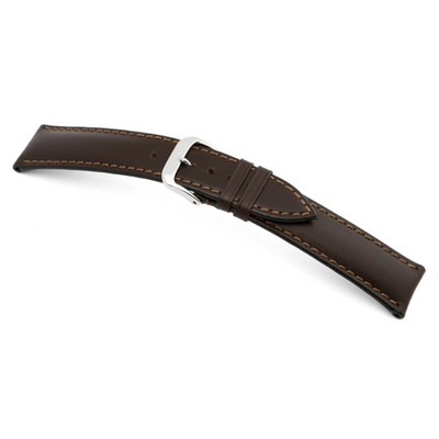 Mocha RIOS1931 Moscow | Russian Leather Watch Band | RIOS1931.com