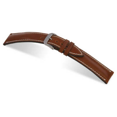 Cognac RIOS1931 New York | Genuine Shell Cordovan Leather Watch Band | RIOS1931.com