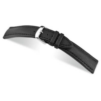 Black RIOS1931 Just | Water Resistant Synthetic Watch Band | RIOS1931.com
