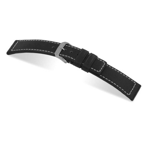 Black RIOS1931 Mariner | Water Resistant Leather Watch Band | RIOS1931.com