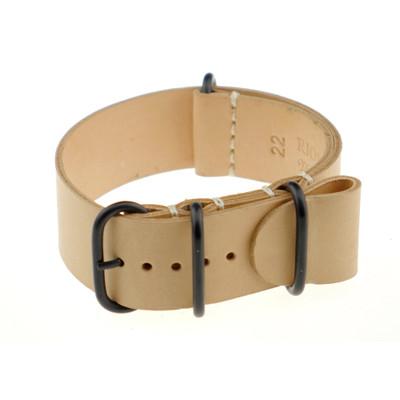 Honey RIOS1931 Riga, Vintage Leather Nato (4 PVD Rings) | RIOS1931.com