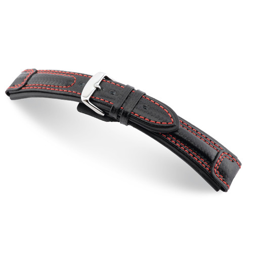 Black Monza - RIOS1931 Carbon Sport Watch Strap