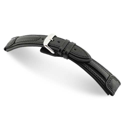 Black Montreal - RIOS1931 Carbon Sport Watch Strap
