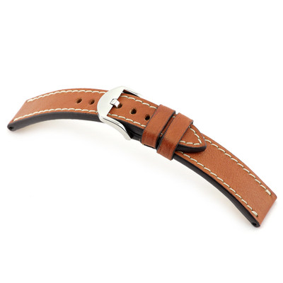 Cognac RIOS1931 Starnberg, Genuine Certified Organic Leather Watch Band | RIOS1931.com