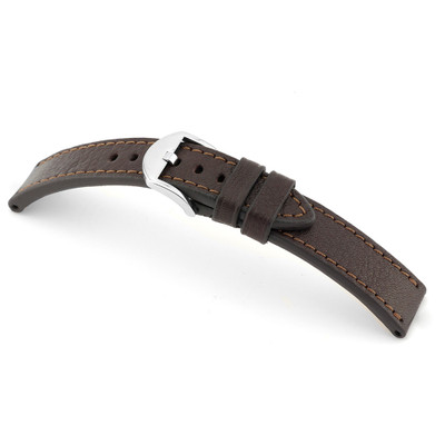 Mocha RIOS1931 Tegernsee, Genuine Certified Organic Leather Watch Band | RIOS1931.com