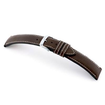 Mocha RIOS1931 Weilheim | Genuine Certified Organic Leather Watch Band | RIOS1931.com