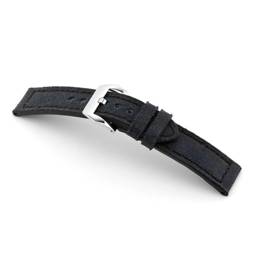 Black RIOS1931 Maryland, Vintage Genuine Canvas Watch Band | RIOS1931.com