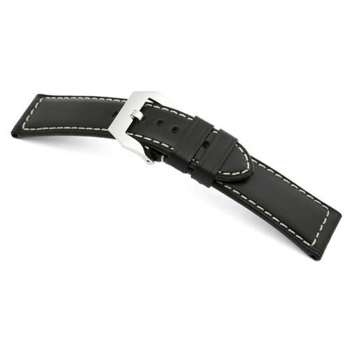 Black RIOS1931 Firenze | Russian Leather Watch Band for Panerai | RIOS1931.com