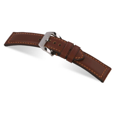 Mahogany RIOS1931 Milano   Water Resistant Leather Watch Band for Panerai   RIOS1931.com