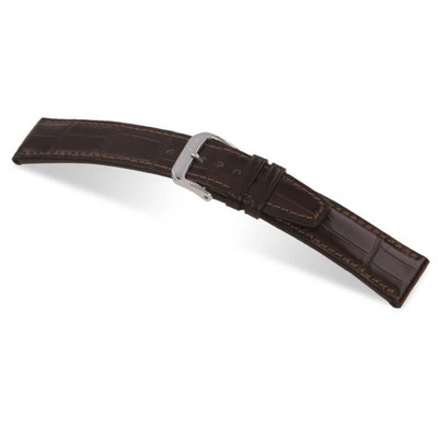 Mocha RIOS1931 Spitfire, Genuine Alligator Watch Band for IWC | RIOS1931.com
