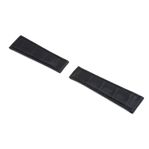 Black RIOS1931 Prince   Genuine Alligator Watch Band to fit Rolex Daytona Deploy Clasp   RIOS1931.com