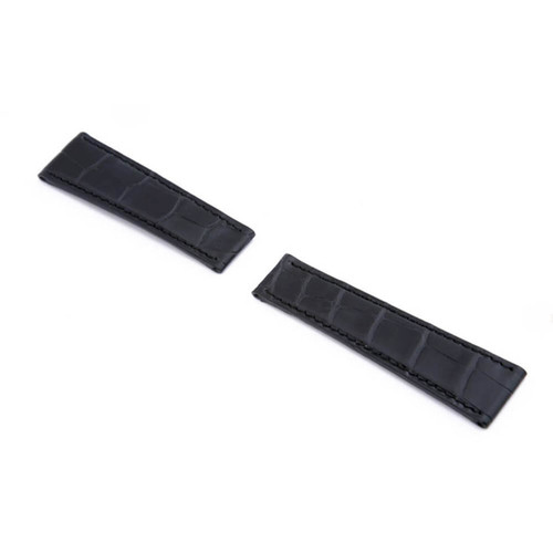 Black RIOS1931 King | Genuine Alligator Watch Band For Rolex Daytona Deploy Clasp | RIOS1931.com