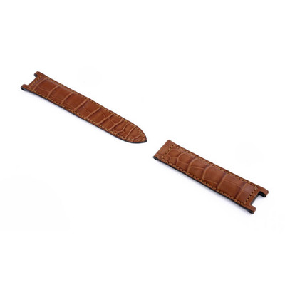 Cognac RIOS1931 Versailles, Genuine Alligator Watch Band to fit Pasha de Cartier Deploy Clasp | RIOS1931.com