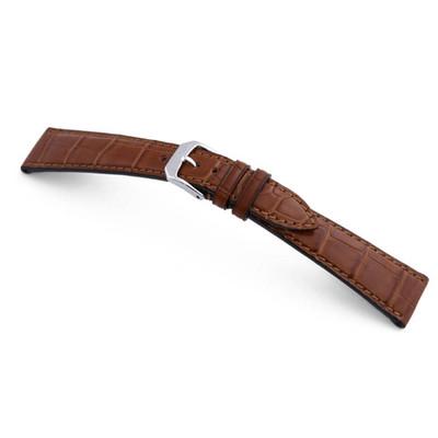 Cognac RIOS1931 Geneve   Genuine Alligator Watch Band for Patek Philippe   RIOS1931.com