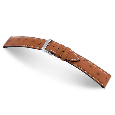 Cognac RIOS1931 Maxime | Genuine Ostrich Watch Band for Jaeger le Coultre | RIOS1931.com
