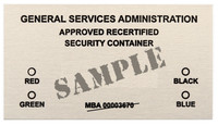GSA RECERTIFICATION LABEL PACK
