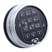 2-Battery Keypad, Satin Chrome