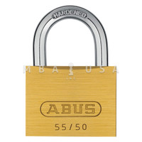 ABUS 55 SERIES 55/50 SOLID BRASS PADLOCK - KEYED ALIKE