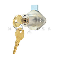 "Ilco Drawer Lock 7/8"" Thickness Bright Nickel KA560"