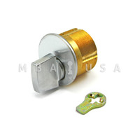 "Turn Knob Mortise Cylinder 15/16"" Adams Rite Cam/Tailpiece - Satin Chrome"