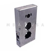 WELDABLE GATE BOX FITS 3 POPULAR LOCKS - KABA ILCO 1000 AND 5000 LINE