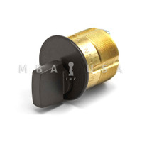 "TURN KNOB MORTISE CYLINDERS 1-1/8"" STANDARD CAM/TAILPIECE BRONZE"