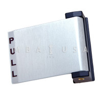Paddle, Push to Left, Clear (Aluminum)