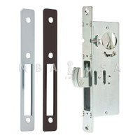 "Hook Bolt Lock 1-1/8"" Backset with Dark Bronze/Aluminum Faceplates"
