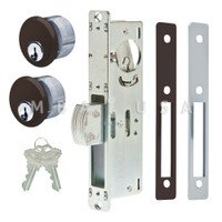 "Dead Bolt Lock 31/32"" Backset, 2 Mortise Key Cylinders - 1"" Schlage C (Dark Bronze) and 2 Faceplates"