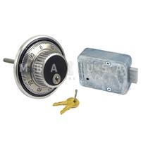 3-Wheel Lock, Key Locking Front Reading Dial & Ring, Satin Chrome