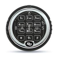 S&G Low Profile Keypad, Rotating, Chrome