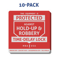 Time-Delay Lock Sticker, 10-Pack