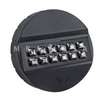 ABS, Keypad, Rubber Membrane, Black