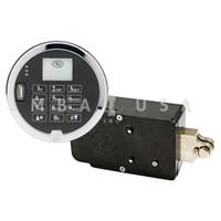 E-Vault Lock & Keypad, Center Extension Bolt, Digital Time Lock, LCD Screen,  Audit Trail, Duress, Bolt Position Switch, MRC